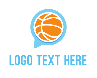 Meetup - Basketball Chat logo design