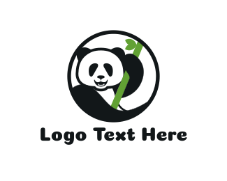 China - Panda & Bamboo logo design