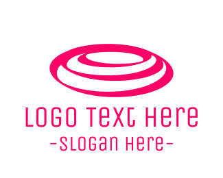 Rounded - Pink Rounded Waves logo design