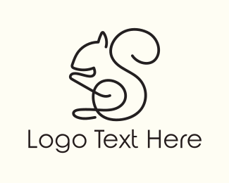 Squirrel -  Squirrel Outline logo design