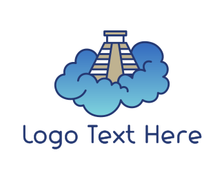 Hookah - Pyramid Cloud logo design