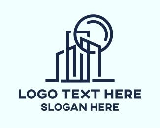 Skyline - Minimalist City logo design