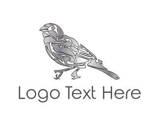 Sparrow - Metallic Finch logo design