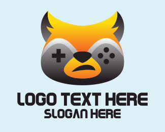 Hobby - Raccoon Game Controller  logo design