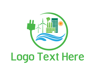Windmill - Eco Energy logo design