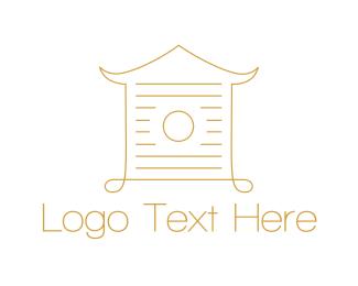 Pagoda - Golden House logo design