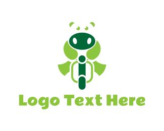 Vespa - Hippo Biker logo design