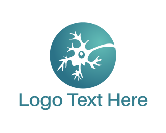 Neuron - Blue Neuron  logo design