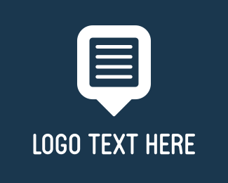 Text - Blue Document logo design
