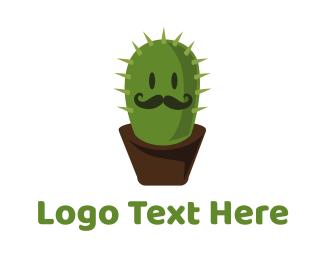 Spine - Mister Cactus logo design