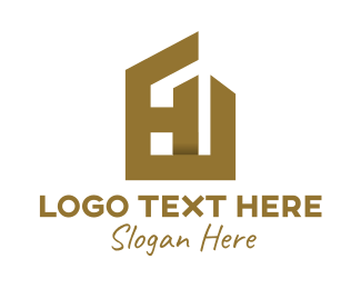 Structure - Bronze House Frame  logo design