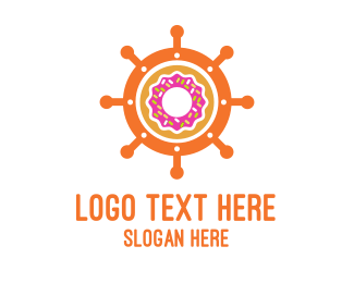 Sweets - Donut Wheel logo design