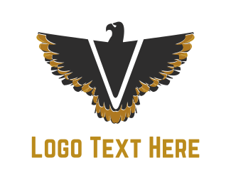Prey - V Black Eagle  logo design