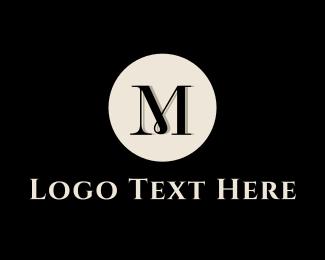 Drapery - Elegant M Circle logo design