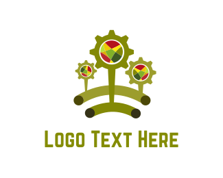 Mechanic - Green Cogs logo design
