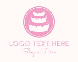 Dessert - Pink Cake  logo design