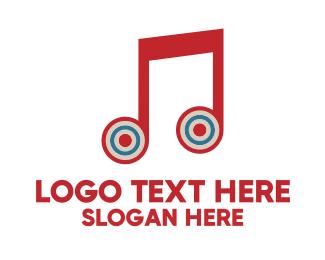 Melody - Music Target logo design
