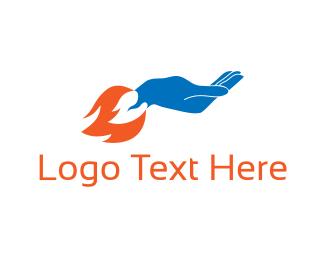 Help - Rocket Hand logo design