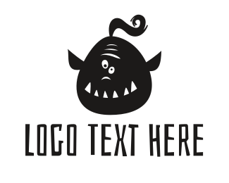 Playstation - Funny Orc logo design