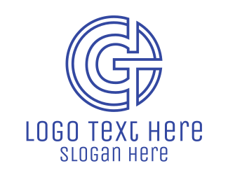 Coin - G Coin Outline logo design