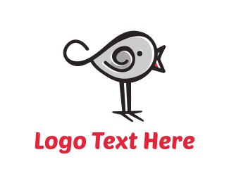 Chick - Cute Bird  logo design