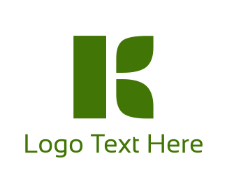"""Organic Green Letter K"" by BrandCrowd"