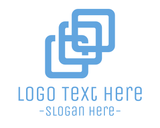 Consultancy - Blue Square Chain logo design