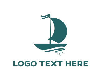 Blue Sailboat Logo