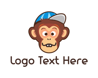 Cap - Chimp Cap logo design