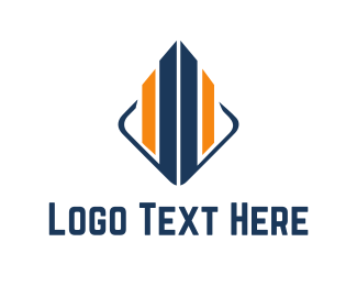 Legal - Blue & Orange Building  logo design