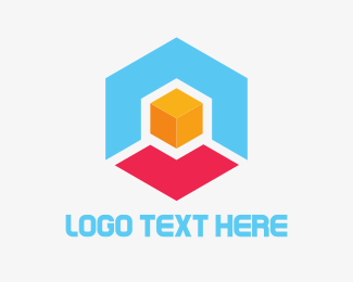 Shape - Hexagon Box Cube logo design