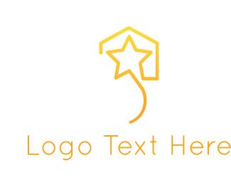 Powerful - Star House logo design