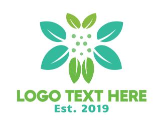 Bouquet - Butterfly Leaf logo design