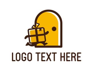 Celebration - Yellow Present logo design