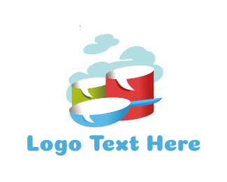 Pan - Steam Pot logo design