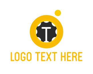 Letter T - Trampoline Letter T logo design