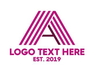 Linear - Violet Stripe A logo design