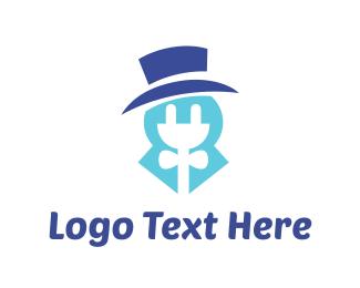 Charger - Blue Electricity logo design