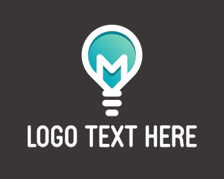 Light - Lamp Letter M logo design