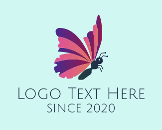 Dragonfly - Purple Butterfly  logo design