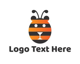 Honey - Bear Bee logo design