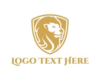Powerful - Golden Lion logo design