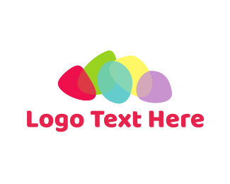 Meetup - Colorful Stones logo design