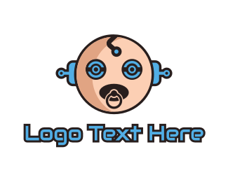 Artificial Intelligence - Robo Baby logo design
