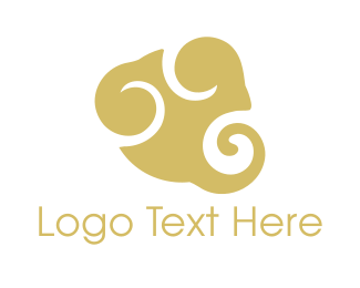 Swirl - Golden Cloud logo design