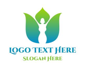Female - Gradient Female Flower logo design