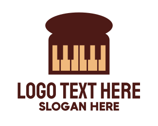 Pianist - Piano Loaf logo design