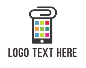 Cell Phone - Clip App logo design