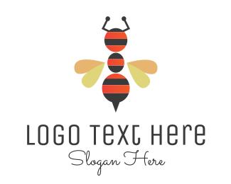 Ant - Ant Bee logo design