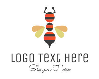Wasp - Ant Bee logo design